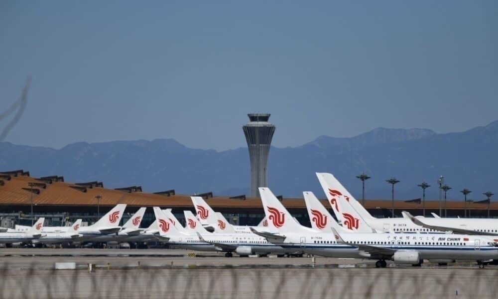 Air China planes parked in Beijing