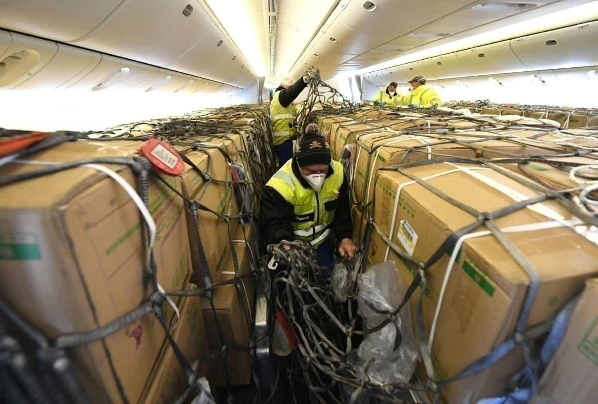 cargo passenger plane interior