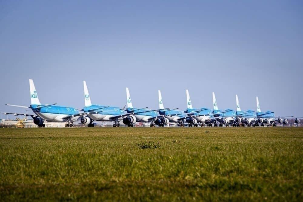 KLM grounding