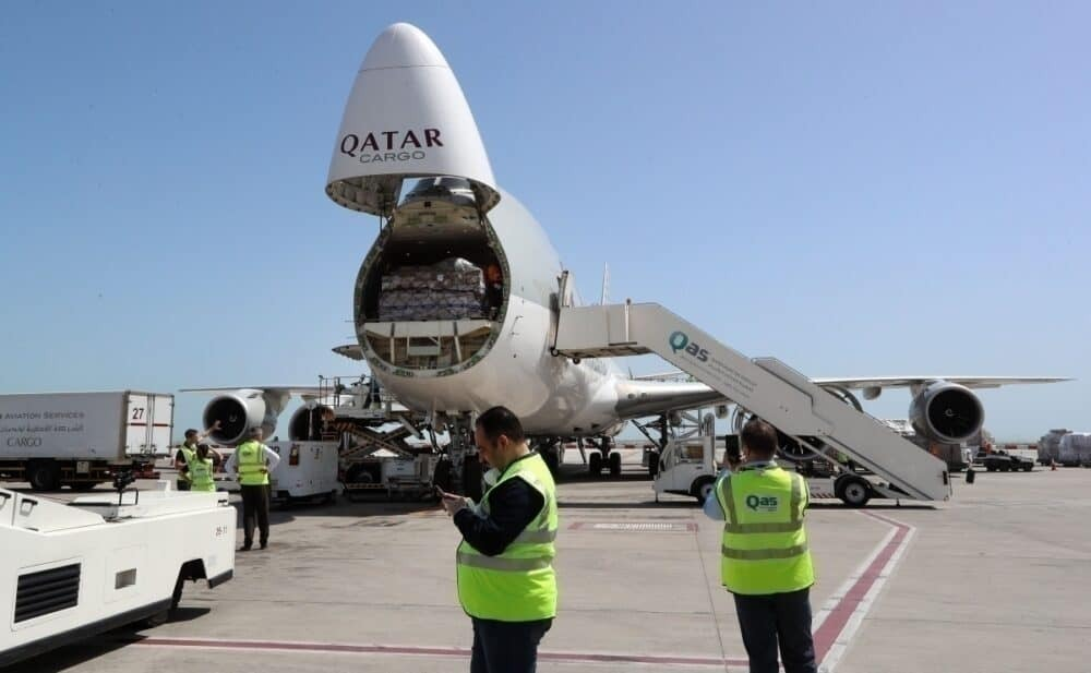 Qatar Airways, Boeing 747, Freight