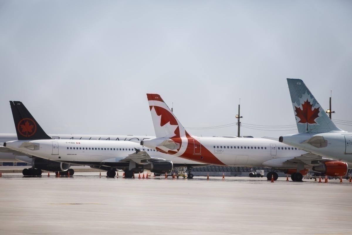 Air Canada parked aircraft, Toronto