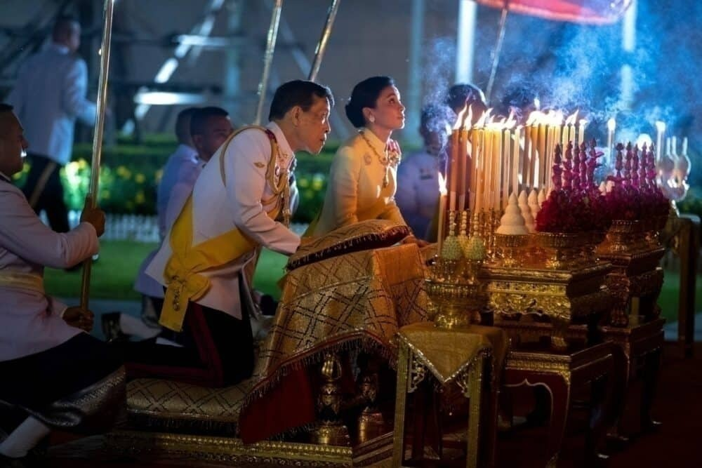 Queen Suthida and King Vajiralongkorn