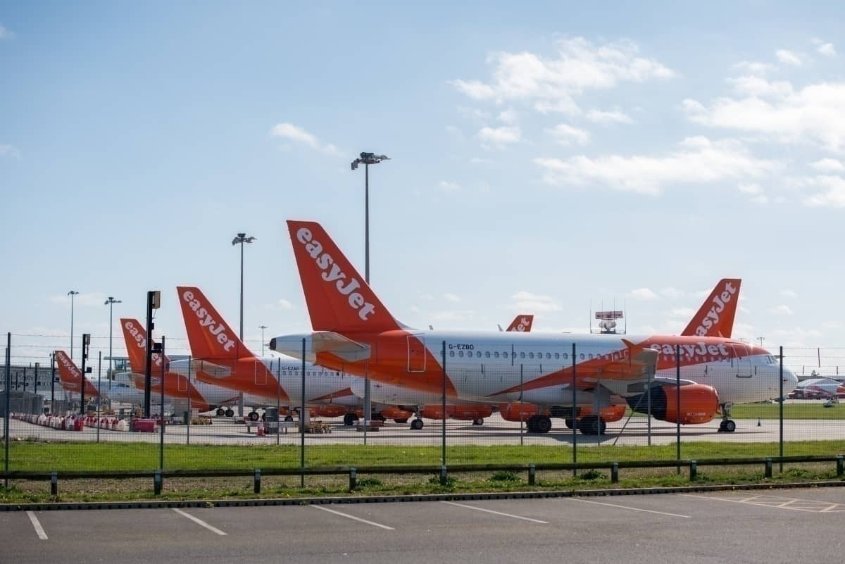 easyJet grounding grounded aircraft