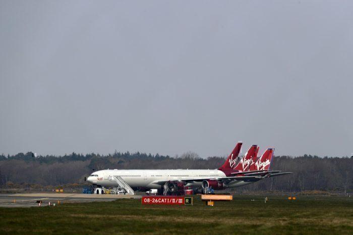 Virgin A340 bournemouth