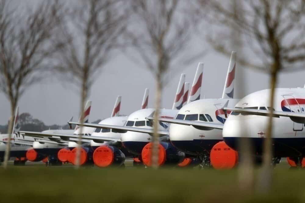 British Airways coronavirus grounding bournemouth