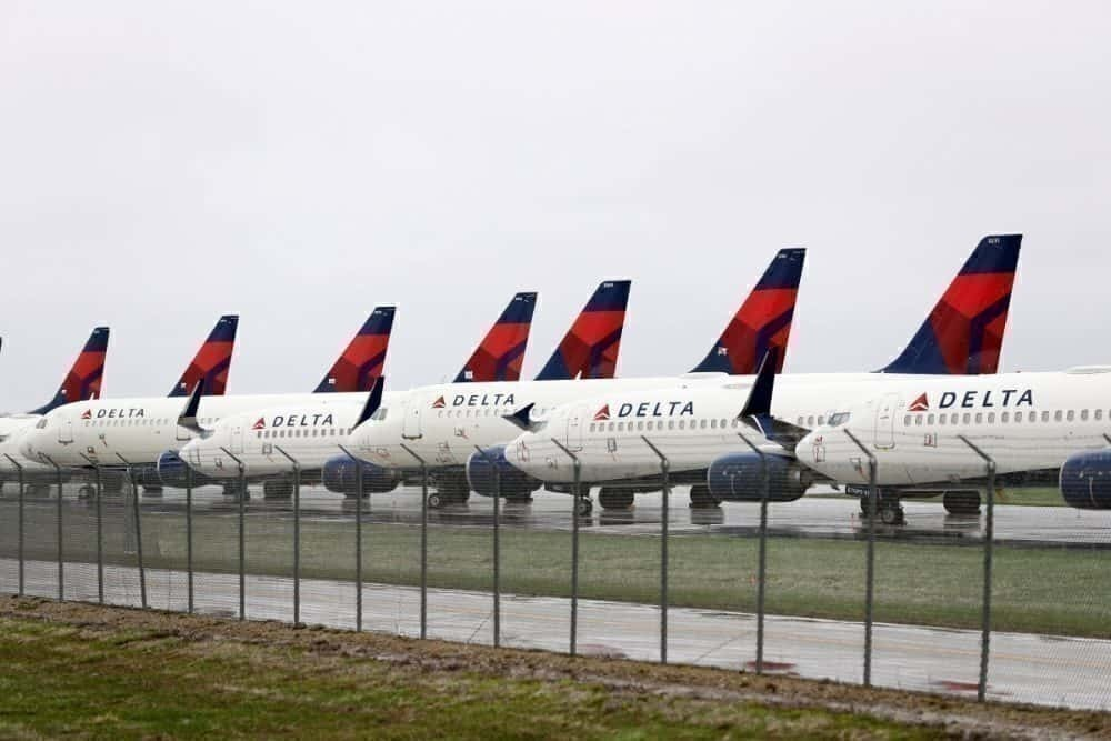 Delta air lines, runways, storage, aircraft,