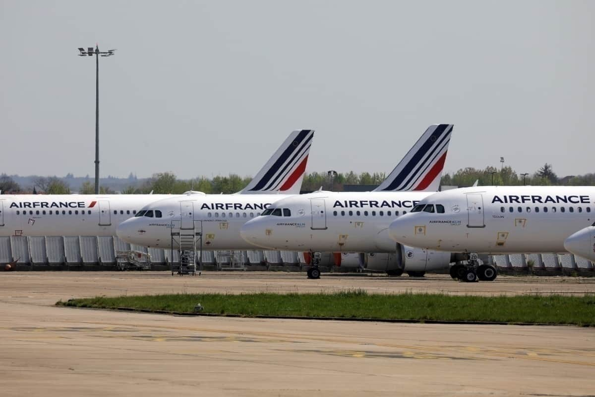 Air France grounded planes
