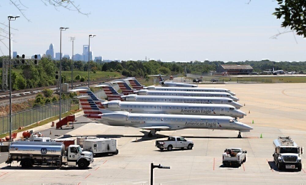 American Eagle Regional jets