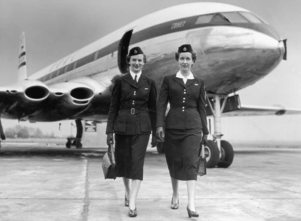 BOAC 1950s cabin crew