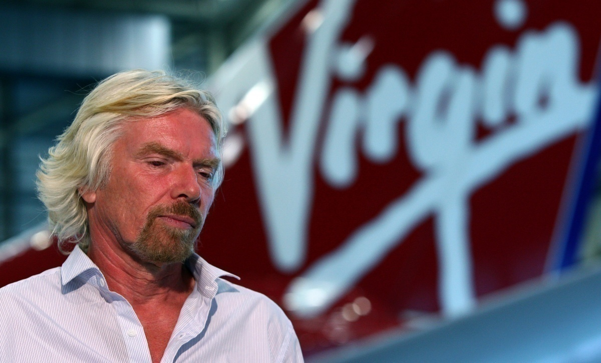 Branson with Virgin tail