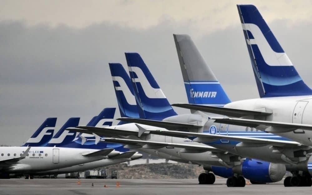Finnair grounded aircraft