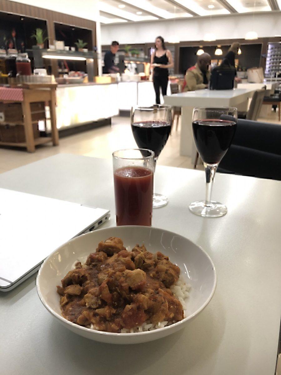 British Airways lounge food and drink