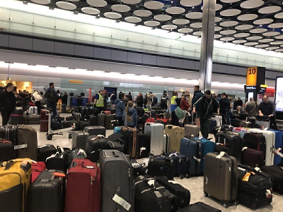 British Airways suitcase area Terminal 5
