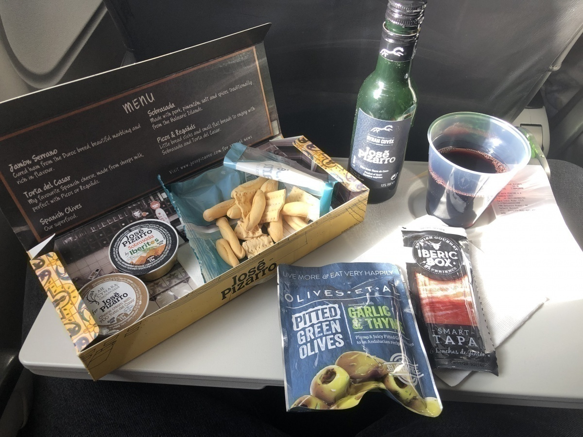 British Airways in-flight food purchase meal deal