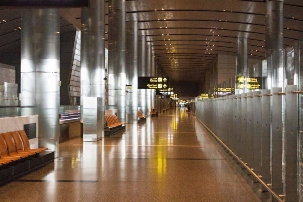 Doha Airport empty