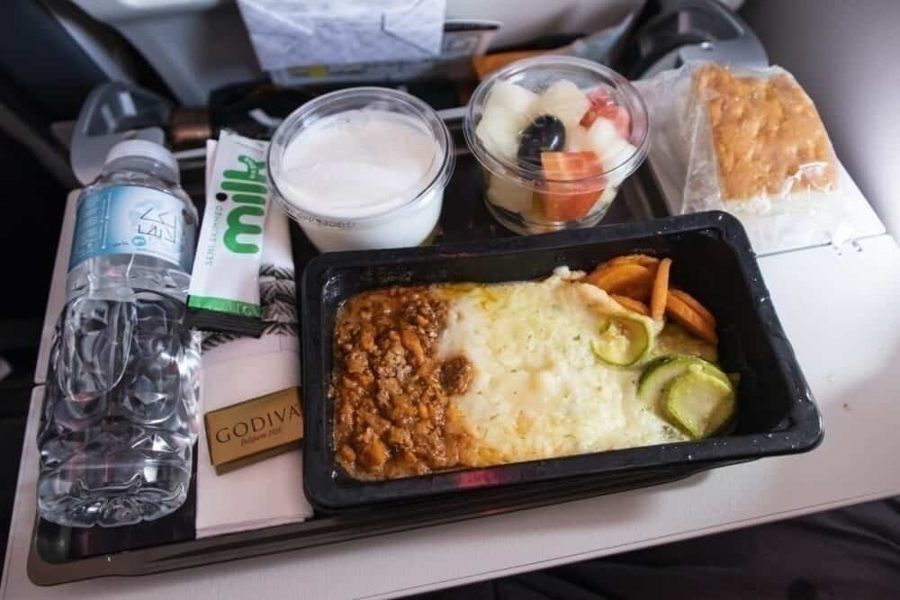 Qatar Airways inflight meal