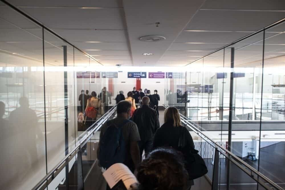Montreal Airport checkpoint