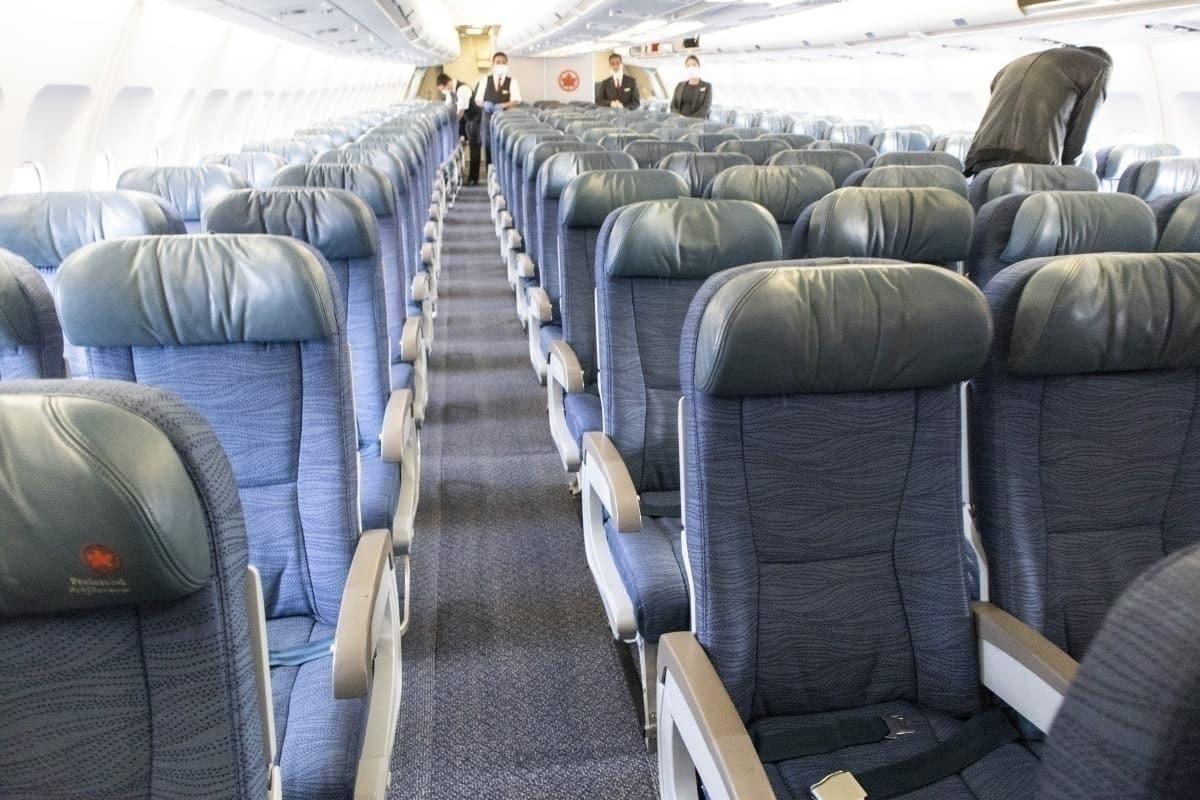 Air Canada a330 interior cabin