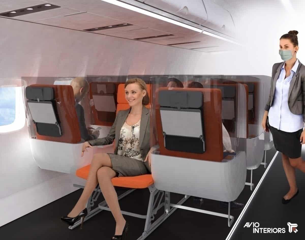 Coronavírus: Novo design de assento do avião pode manter os passageiros protegidos
