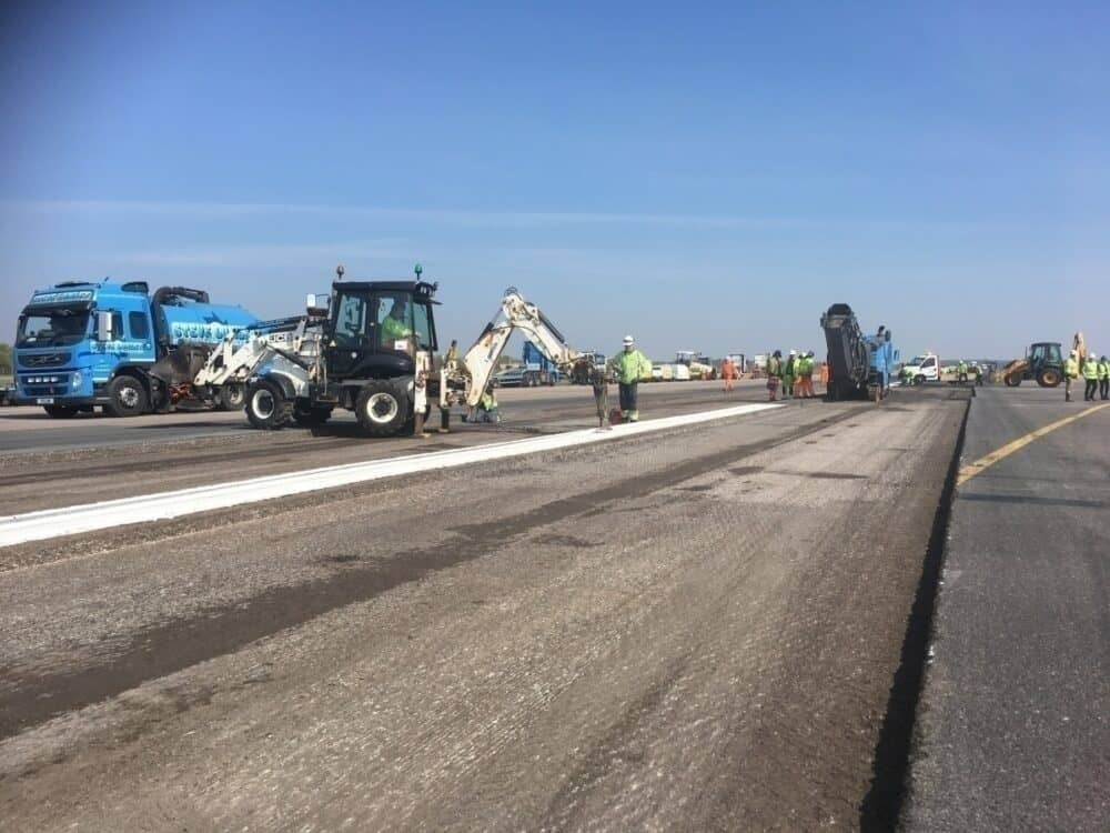 Stansted Airport, Runway Work, Closed Runway