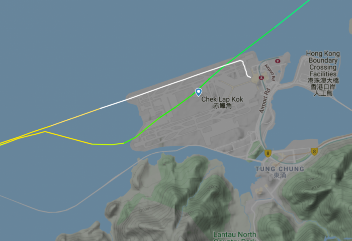 Cathay Pacific 777 Goes Around After Unstable Hong Kong Approach