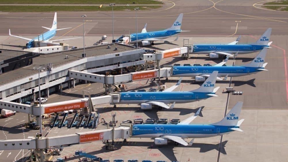 KLM parked Schiphol