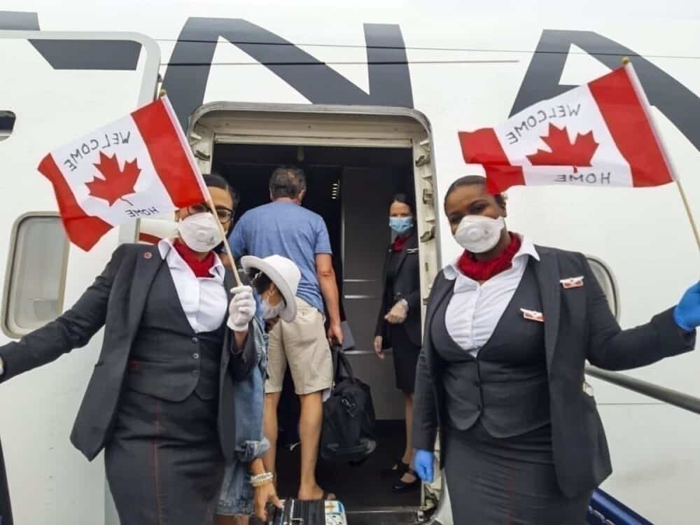 Air Canada repatriation flights