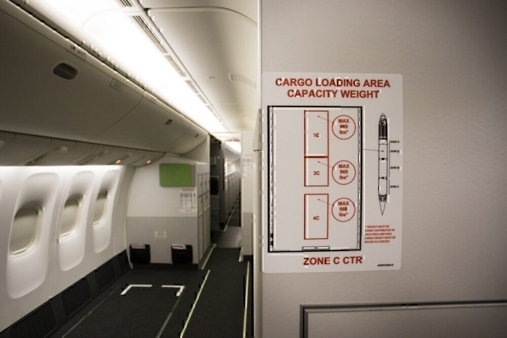 Air Canada cargo information print out