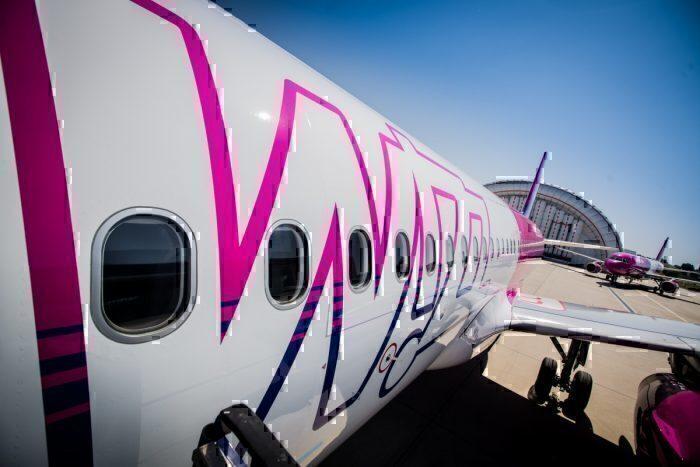 Wizz Air plane on runway