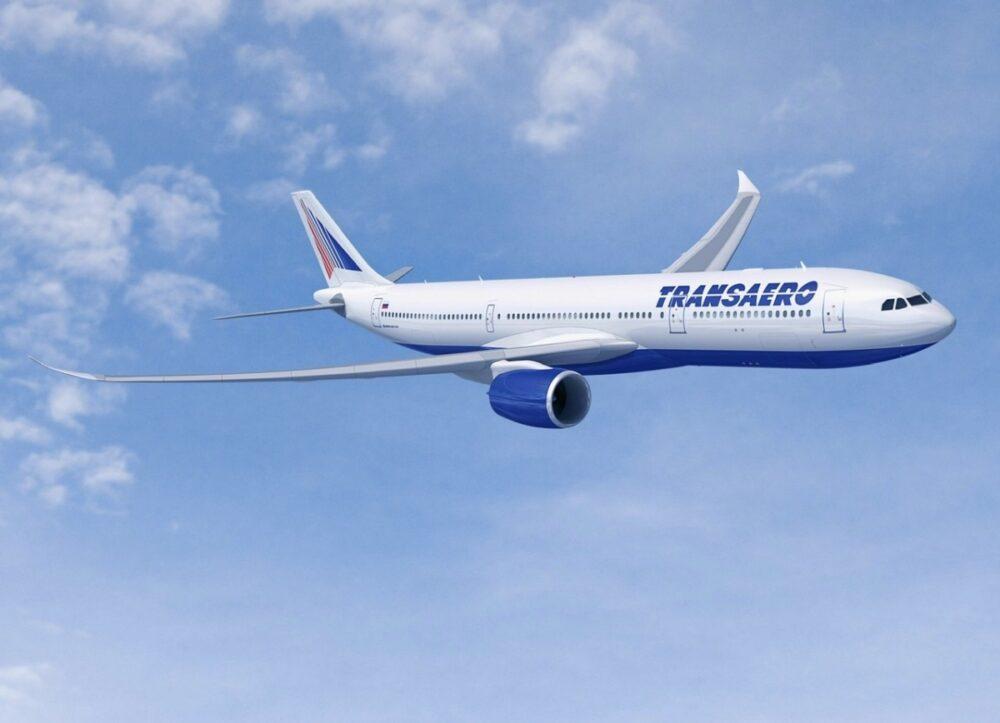 Transaero Airbus plane