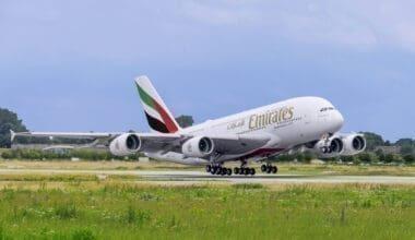 Emirates, Airbus A380, Return