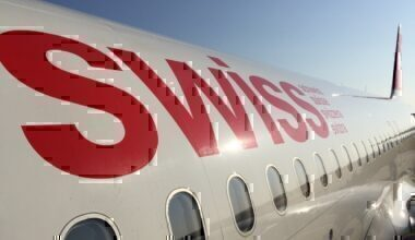 SWISS logo on aircraft