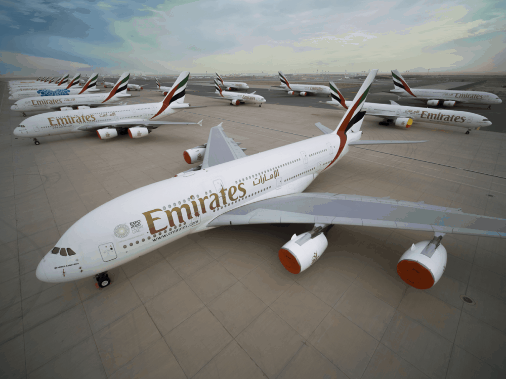 Emirates A380 parking