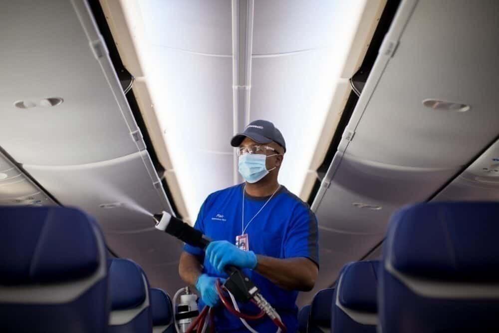 Southwest employee sprays aircraft