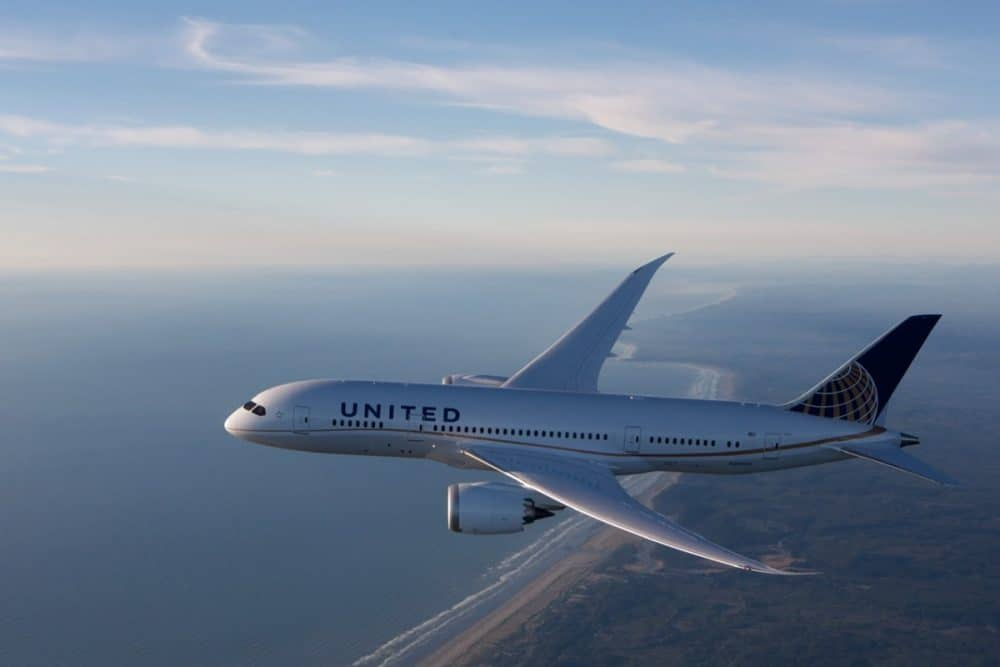 United Airlines 787 aircraft