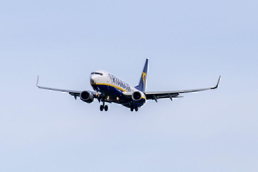 Ryanair in flight