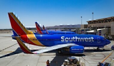 Southwest airlines at gate