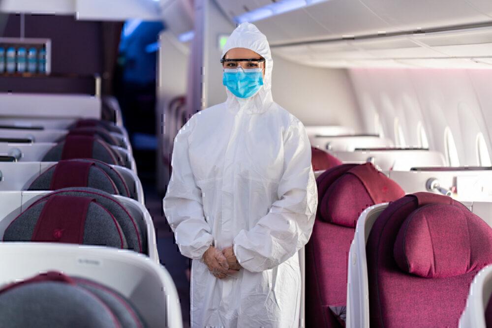 Qatar Airways, Face Masks, Cabin Crew PPE