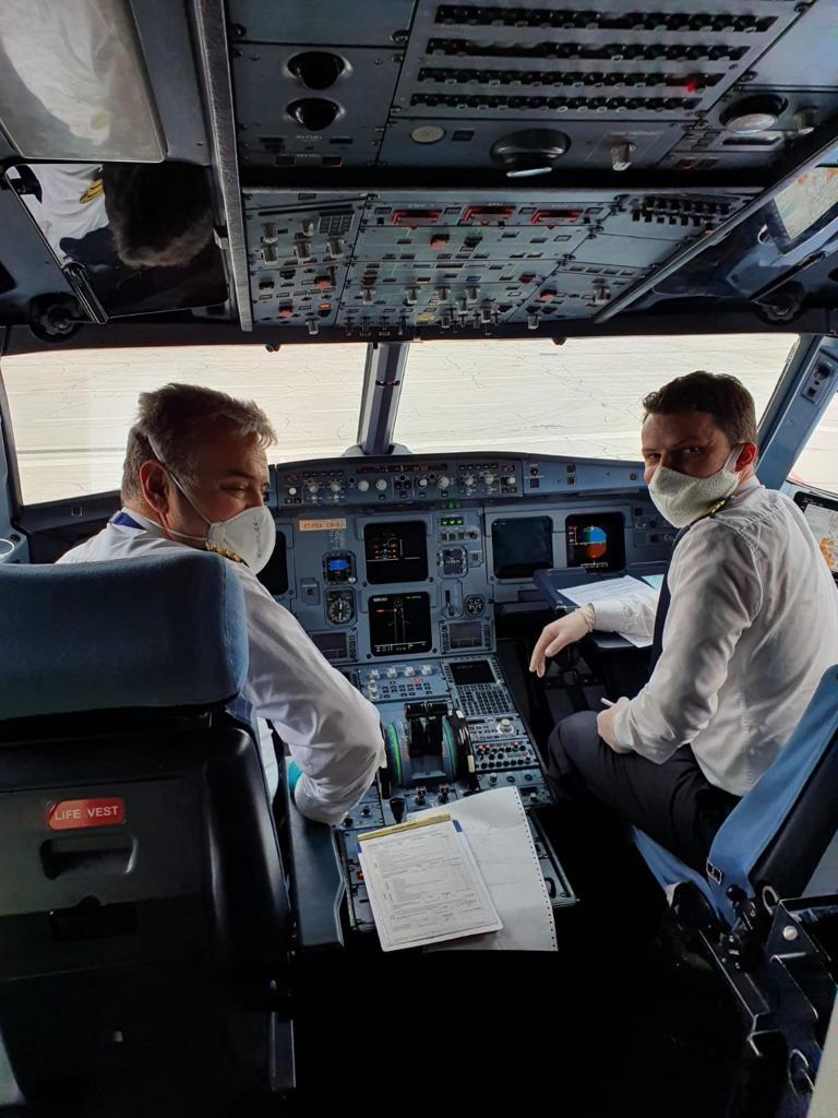 FlyBosnia Airbus A319 International Airport Sarajevo cargo