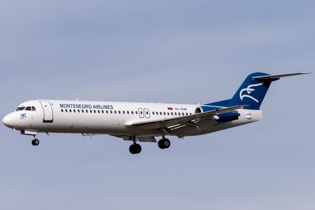 Montenegro Airlines Fokker 100 Frankfurt Airport