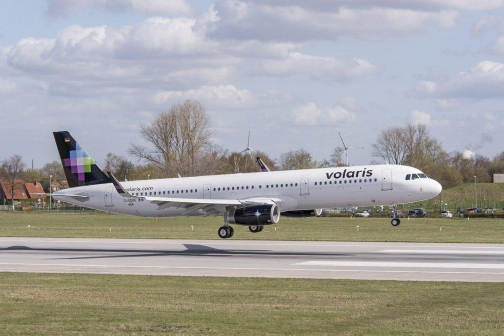 Volaris aircraft on runway