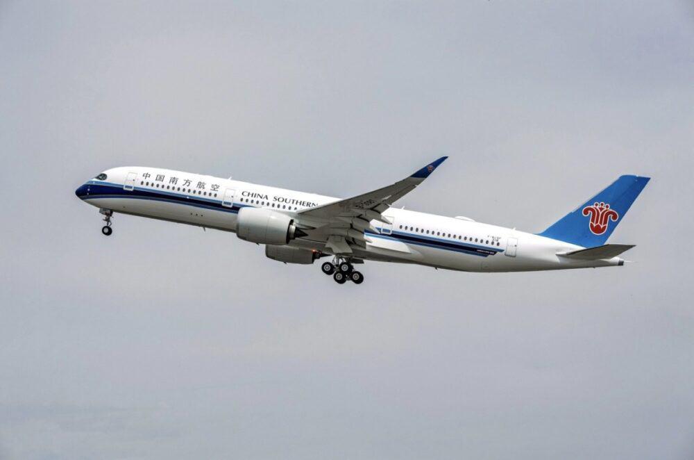 中国南方空客飞机