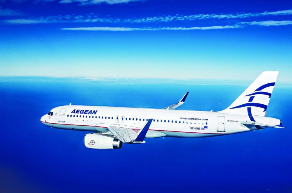 A320ceo in flight Aegean