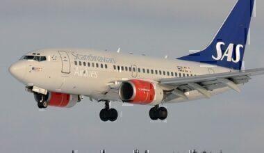 SAS 737 landing