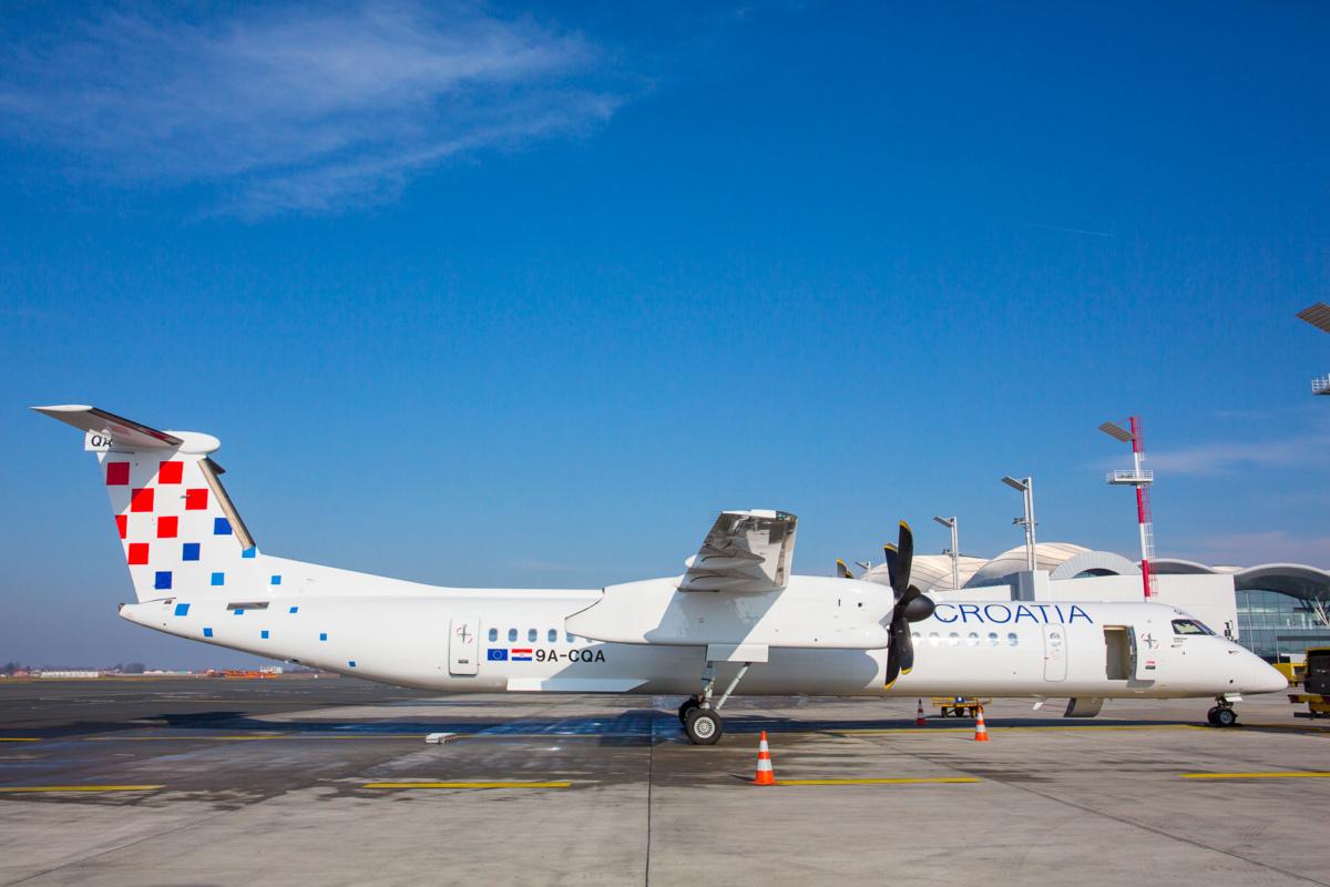 Croatia Airlines Dash 8 Zagreb Franjo Tudman Airport