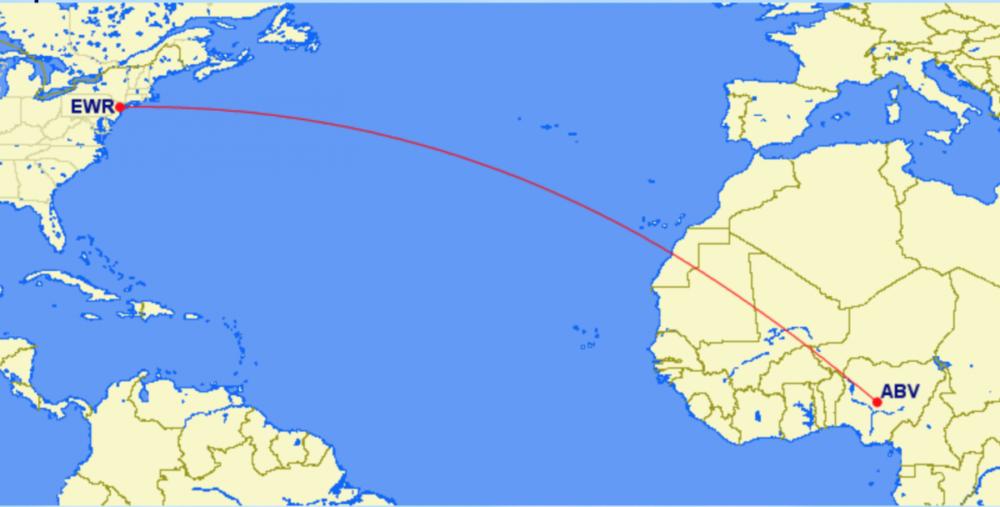 Nigerian evacuation flight from EWR to ABV