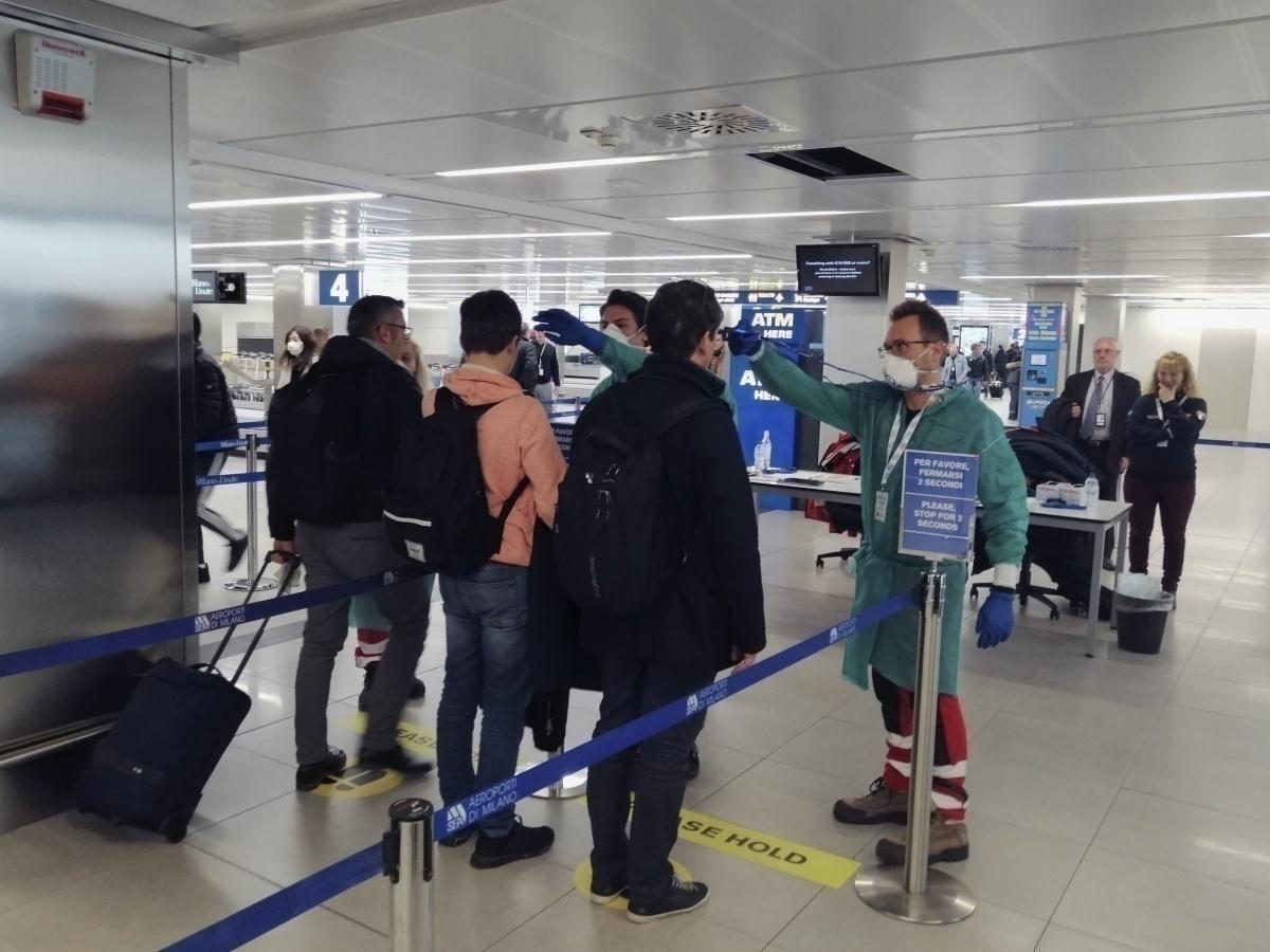 Health screening at airport