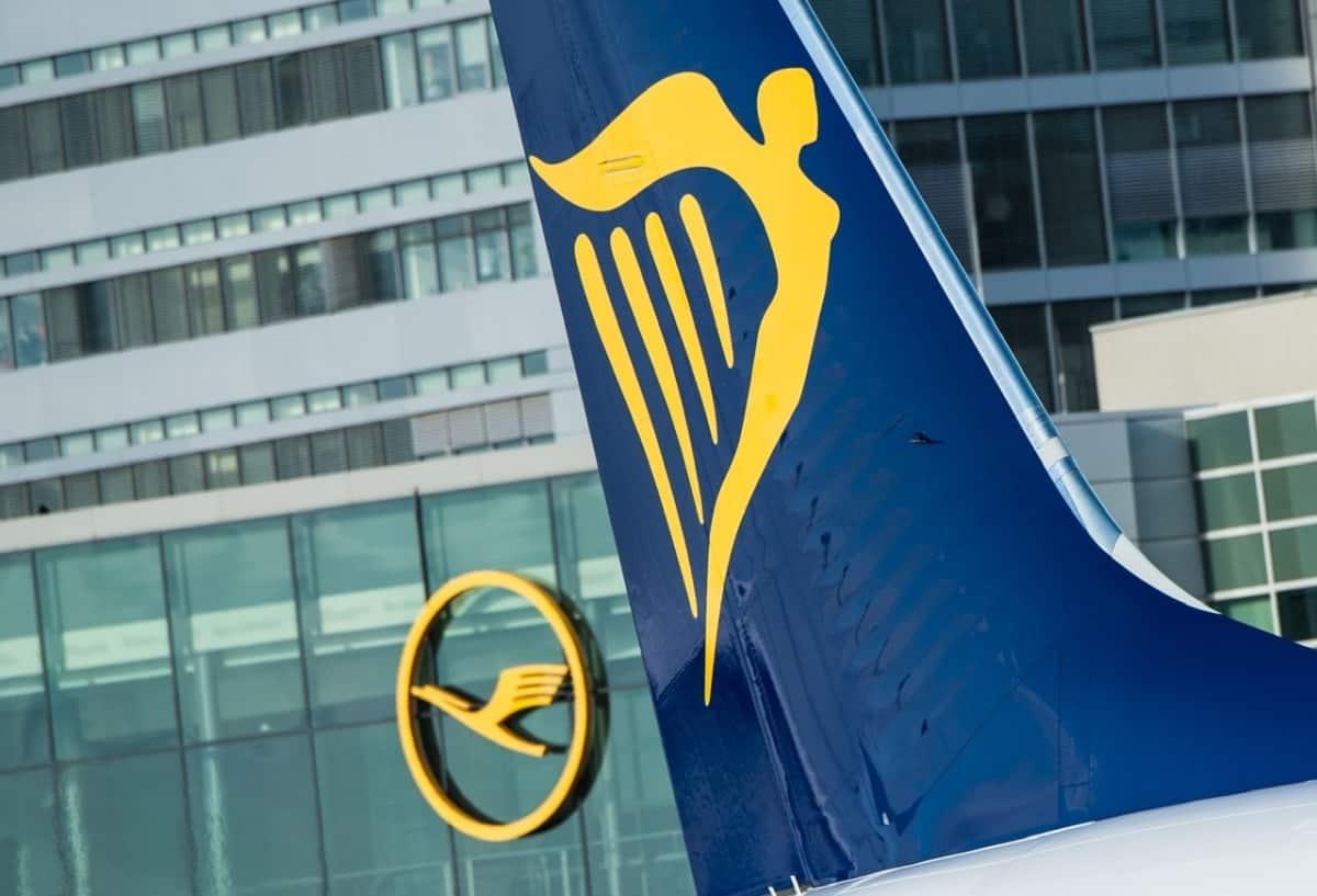 Ryanair tail at Lufthansa HQ