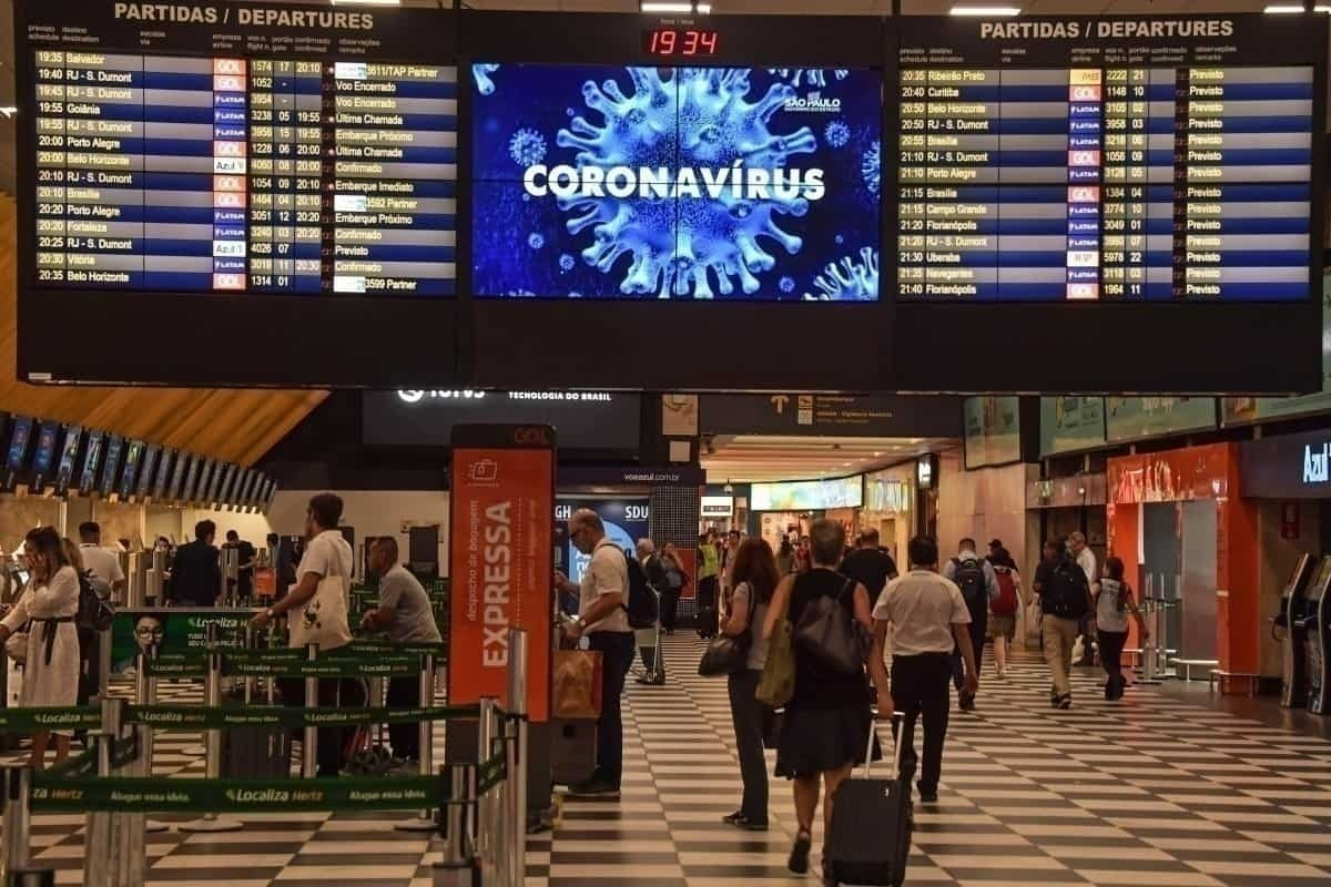 Coronavírus do aeroporto de São Paulo Getty