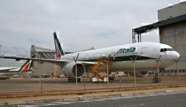 ALitalia grounded plane